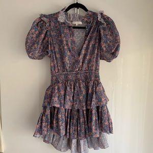 Loveshackfancy floral mini dress, S-M